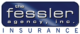 The Fessler Agency, Inc Insurance logo in white letters with a blue background