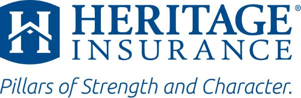 Heritage Insurance Logo in blue text