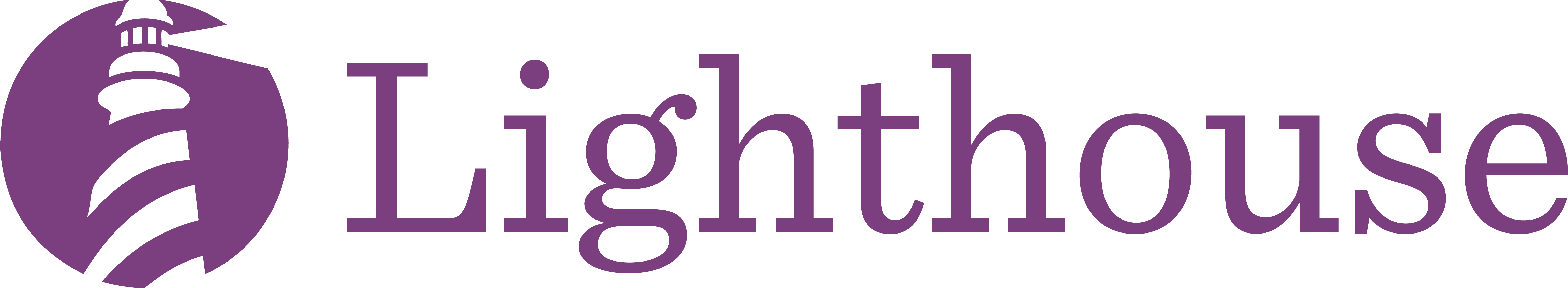 Lighthouse logo in Purple